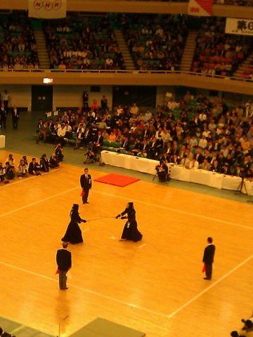 全日本選手権での審判立ち位置